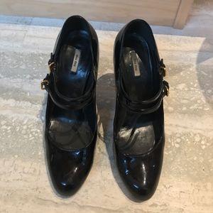 Miu Miu Shoes - MIU MIU Patent Leather Mary Jane Pumps - 37.5